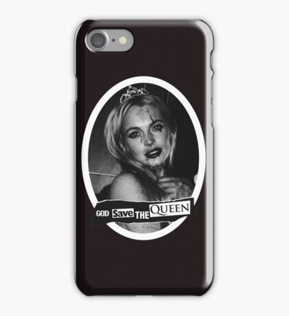 Lindsay Lohan 'God Save the Queen' iPhone Case/Skin