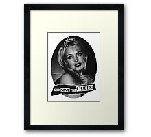 Lindsay Lohan 'God Save the Queen' Framed Print