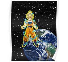 dragaonball z Goku Charging Poster