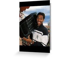 Thierry Henry With A Ghetto Blaster Greeting Card
