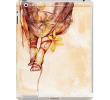Vintage African background with woman's legs and vanilla flowers iPad Case/Skin