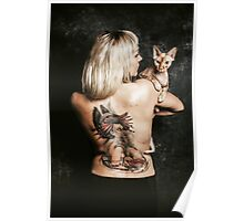 Daria with Sphynx Poster
