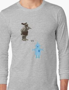 Caveman vs Robot Long Sleeve T-Shirt