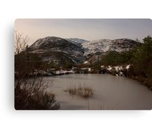 Croaghconnellagh In Snow Canvas Print