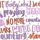 Counting Stars Lyric Art by maddiedrawings