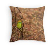 Green Bee Eater Throw Pillow