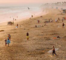Day At The Beach - Huntington Beach California by Ram Vasudev