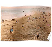 Day At The Beach - Huntington Beach California Poster