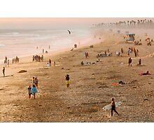 Day At The Beach - Huntington Beach California Photographic Print