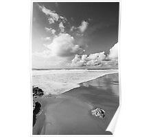 bw beach Poster