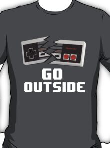 Go Outside (NES) T-Shirt