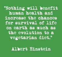 Vegetarian Einstein Quote by rydrahuang