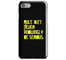 never knowingly be serious~Doctor Who iPhone Case/Skin