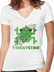 Froggystain Women's Fitted V-Neck T-Shirt