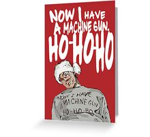 Die Hard alternative Christmas card Greeting Card
