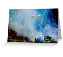 Firefighter Copter Greeting Card