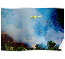 Firefighter Copter Poster