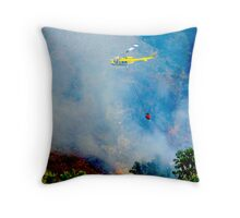 Firefighter Copter Throw Pillow
