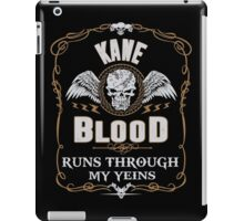 KANE blood runs through your veins iPad Case/Skin
