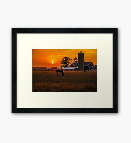 The Beauty of a Rural Sunset Framed Print