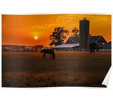 The Beauty of a Rural Sunset Poster