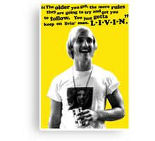 David Wooderson Birthday Card Canvas Print