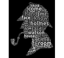 The canon of Sherlock Holmes word cloud Photographic Print