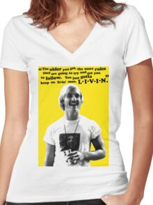 David Wooderson Birthday Card Women's Fitted V-Neck T-Shirt