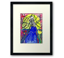 MY LEGS AND OTHER STAFF Framed Print