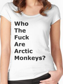 Who the f#ck are Arctic Monkeys? Women's Fitted Scoop T-Shirt