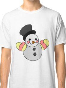 Cute Snowman Classic T-Shirt