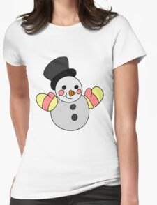 Cute Snowman Womens Fitted T-Shirt