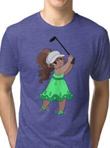 Cute Golfer Girl Tri-blend T-Shirt
