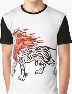 Burning Lion Graphic T-Shirt
