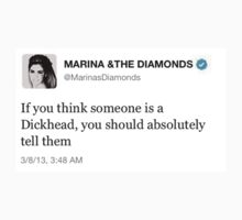 Marina and The Diamonds Tweet by musicenthusiast