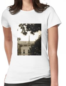 Paris Effiel Tower Womens Fitted T-Shirt