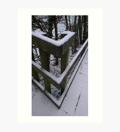 Snow Theme - Fence 1 Art Print