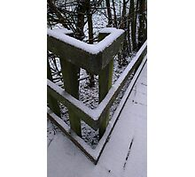 Snow Theme - Fence 1 Photographic Print