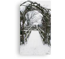 Snow Theme - Tree Archway Canvas Print