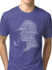 The canon of Sherlock Holmes word cloud Tri-blend T-Shirt