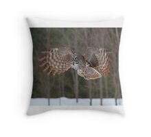 To infinity...and beyond! - Great Grey Owl Throw Pillow