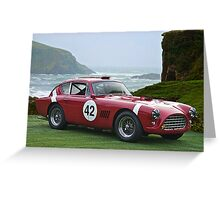 1950's Vintage Race Car No. 42 Greeting Card
