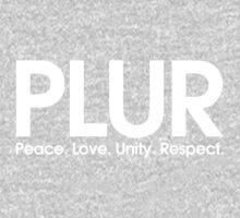 PLUR (Peace. Love. Unity. Respect.) Kids Tee
