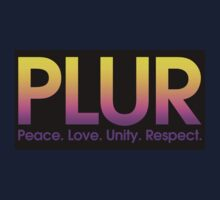 PLUR (Peace. Love. Unity. Respect.) Baby Tee