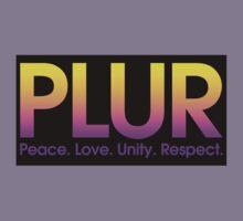PLUR (Peace. Love. Unity. Respect.) Kids Clothes