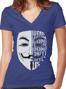 Just My Type: Anonymous Women's Fitted V-Neck T-Shirt