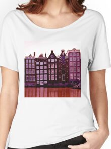 Amsterdam Purple Women's Relaxed Fit T-Shirt