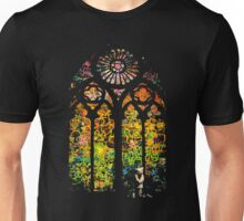 Banksy Stained Glass Window Unisex T-Shirt