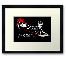 Dex Note Framed Print