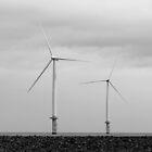 Redcar Beach UK Wind Farm by albyw